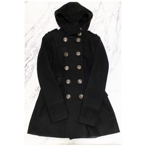Miss Sixty Wool Button Up Peacoat